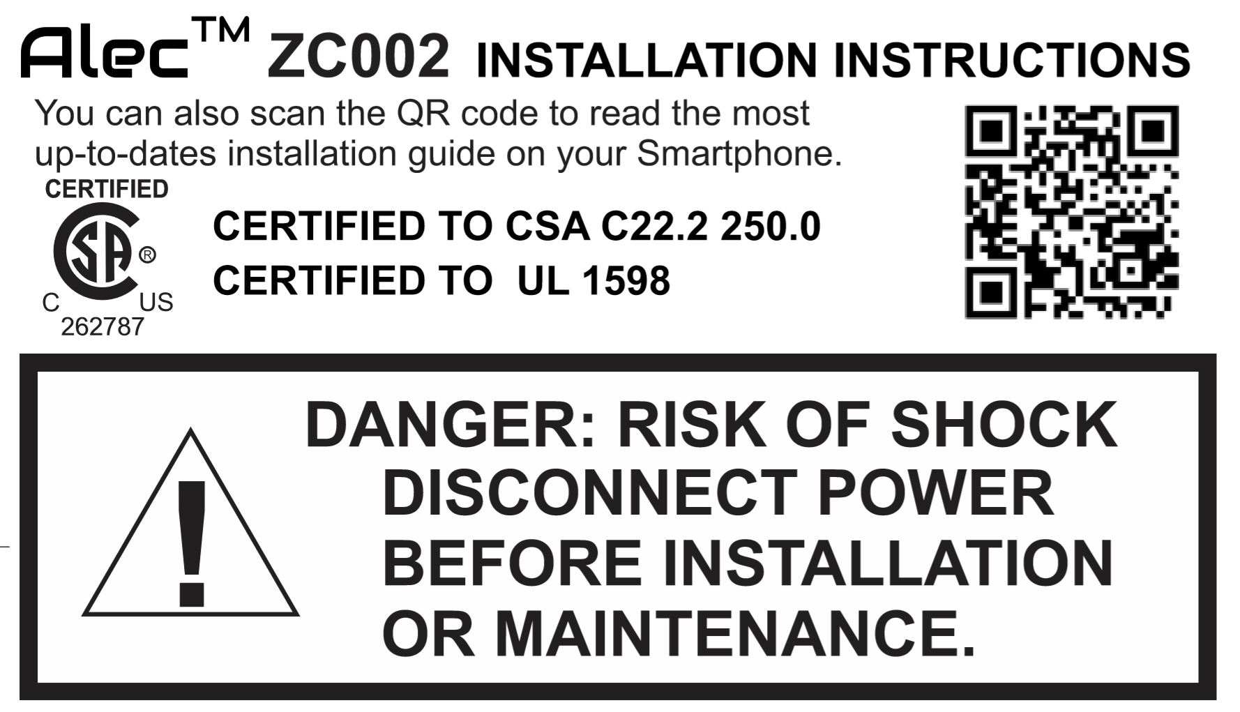 ZC002 Installation Guide on